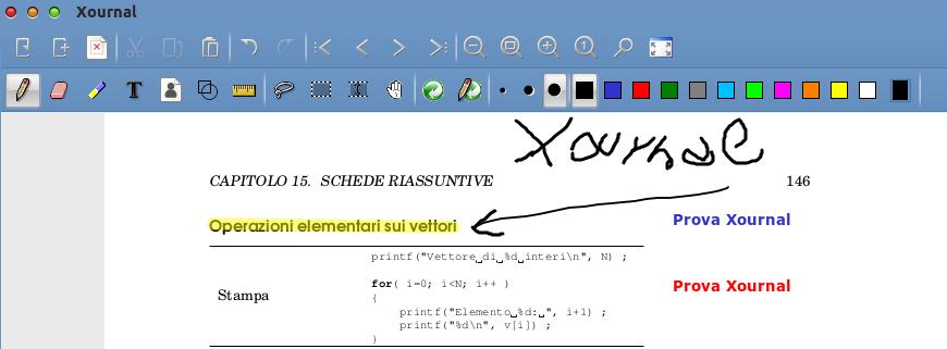 Modificare PDF Ubuntu - Xournal